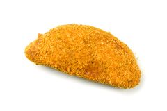 Breaded Meat Ready to Cook Royalty Free Stock Images