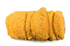 Breaded Meat Ready to Cook Stock Images