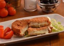 Breaded mozzarella Royalty Free Stock Images