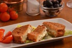 Breaded mozzarella Royalty Free Stock Photography