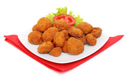 Breaded mushrooms Royalty Free Stock Photography