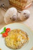 Breaded Parasol Mushroom Stock Photography