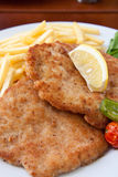 Breaded pork chop stock images