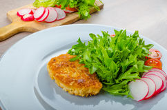 Breaded Pork Chops In Parmesan Cheese Stock Photos