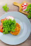 Breaded Pork Chops In Parmesan Cheese Stock Image
