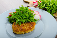 Breaded pork chops in Parmesan cheese Stock Photography