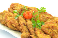 Breaded pork chops on a plate Stock Images
