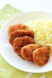 Breaded pork cutlet Royalty Free Stock Images