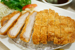 Breaded pork cutlet japanese food style tonkatsu Stock Photography
