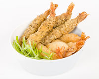 Breaded Prawns Stock Photo