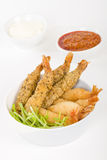 Breaded Prawns Stock Image