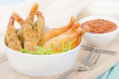 Breaded Prawns Royalty Free Stock Photo