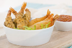 Breaded Prawns Stock Photography