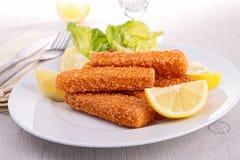 Breaded ryba Zdjęcia Royalty Free