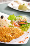 Schnitzel with rice Stock Images