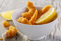 Breaded shrimp Royalty Free Stock Photography