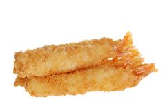Breaded shrimp Shallow DOF Royalty Free Stock Image