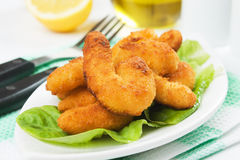 Breaded shrimp snack Stock Image