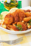 Breaded shrimp snack Stock Photo