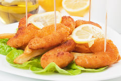 Breaded shrimp Royalty Free Stock Photo