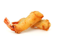 Breaded shrimps. Is ready for eating backgound Royalty Free Stock Photo
