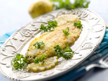 Breaded sole fish Royalty Free Stock Image