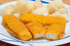Breaded sticks Stock Image