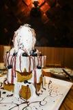 Breaded tort z lody i owoc Fotografia Royalty Free