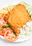 Breaded Veal Stock Image