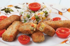 Breaded veggie sticks Royalty Free Stock Image