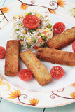 Breaded veggie sticks Stock Photography