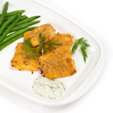 Breaded White Fish Fillets Royalty Free Stock Photos
