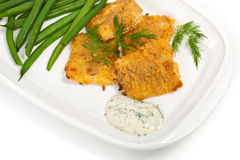 Breaded White Fish Fillets Stock Image