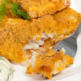Breaded White Fish Fillets Stock Images