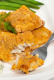 Breaded White Fish Fillets Royalty Free Stock Photography