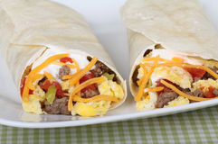 Breadfast Burritos Royalty Free Stock Photography