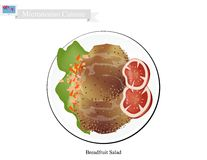 Breadfruit Salad with Meat, Popular Food in Micronesia Royalty Free Stock Image