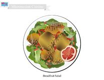 Breadfruit Salad, One of Most Famous Food in Micronesia Royalty Free Stock Photo