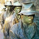Breadline sculpture at Franklin Delano Roosevelt Memorial Royalty Free Stock Images