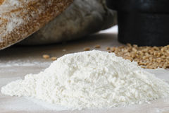 Breadmaking ingredients Royalty Free Stock Photos