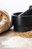 Breadmaking ingredients Stock Photos