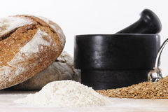 Breadmaking ingredients Royalty Free Stock Image