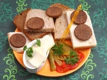Breadplate 免版税库存图片
