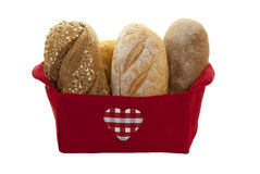 Breads İn The Basket Royalty Free Stock Photo