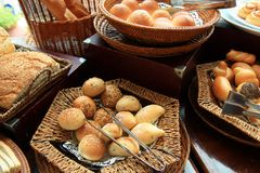 Breads. Photograph of breads at buffet Royalty Free Stock Photos