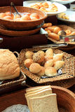 Breads. Photograph of breads at buffet Stock Images