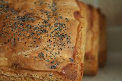 Breads. Three nice freshly baked breads royalty free stock image