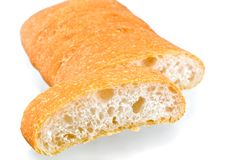 Breads. Italian breads on white background Royalty Free Stock Images