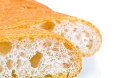 Breads. Italian breads on white background Stock Image