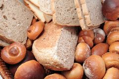Breads. Kind of breads bakery pastry Royalty Free Stock Image
